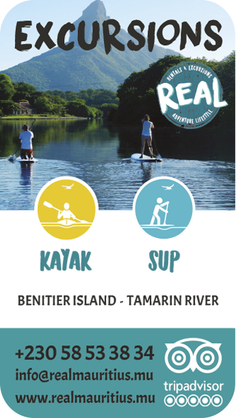 Real Mauritius excursion kayak et stand up paddle