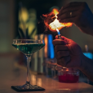 Avant Garde cocktail bar night party in Mauritius