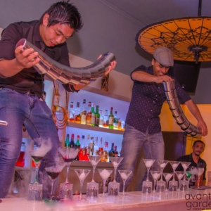 Avant Garde cocktail bar fiesta in Mauritius