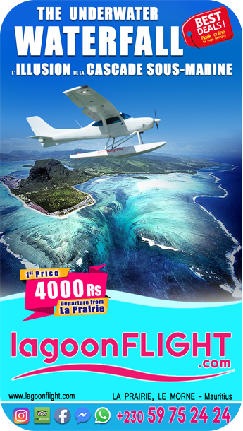 Born To Fly vol en hydravion Le Morne Maurice