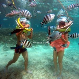 aquaventure marche sous l'eau découverte lagon maurice