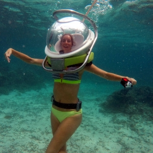 aquaventure marche sous l'eau vacance maurice