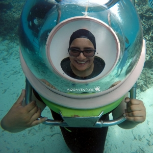 aquaventure marcher et respirer sous l'eau sensation ile maurice