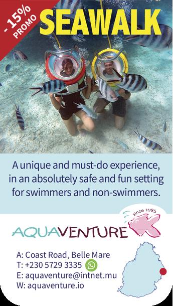 Aquaventure marche sous l'eau Ile Maurice