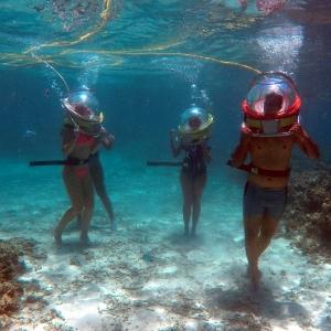 aquaventure top 10 activités ile maurice marche sous l'eau