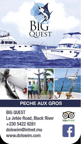 Blue Quest pêche aux gros ouest Ile Maurice
