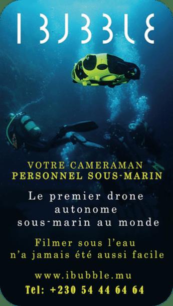 iBubble n°1 des cameras drone sous-marin à l'Ile Maurice
