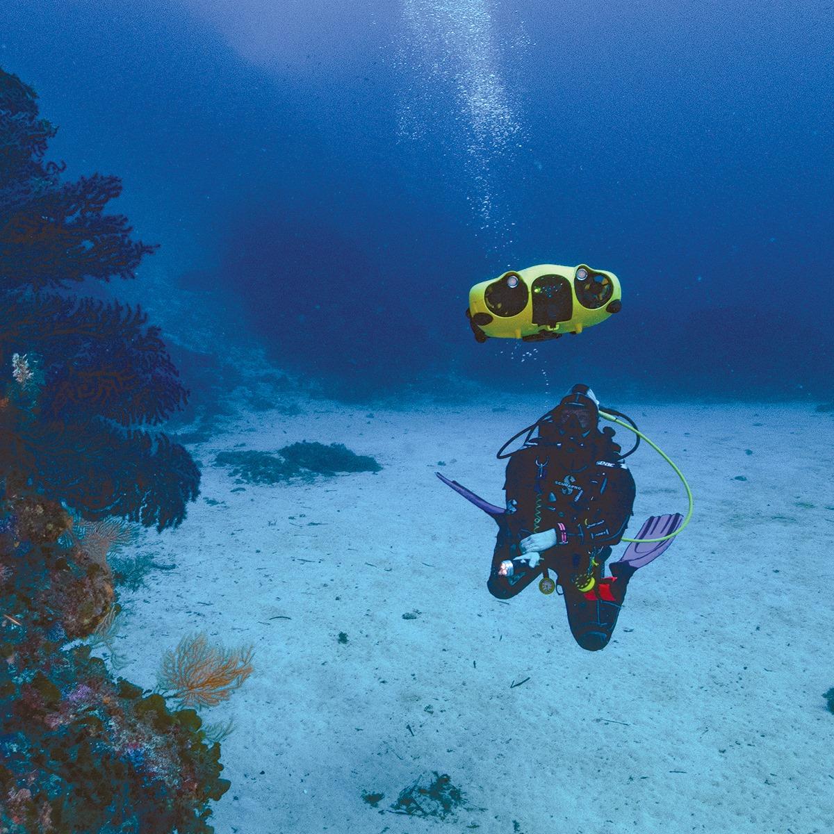 iBubble camera drone sous-marin autonome - Pour des vidéos souvenir de vos plongées à l'Ile Maurice