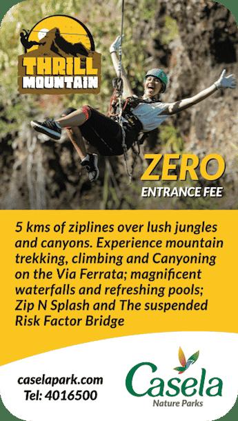 Casela Thrill Mountain 7 activités pour des vacances sensations à l'Ile Maurice