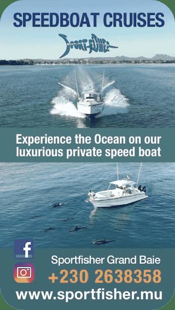 Sport fisher excursions en hors-bord privé de luxe Grand Baie Ile Maurice